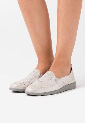 Slip-ons - grey/silver