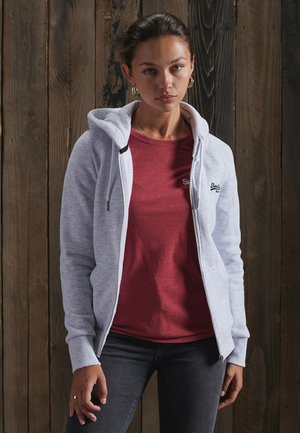 ORANGE LABEL ZIP HOODIE - veste en sweat zippée - ice marl