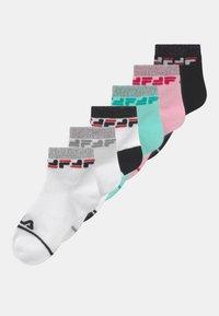 Fila - JUNIOR GIRLS QUARTER 6 PACK - Socks - navy/ice cream - 0