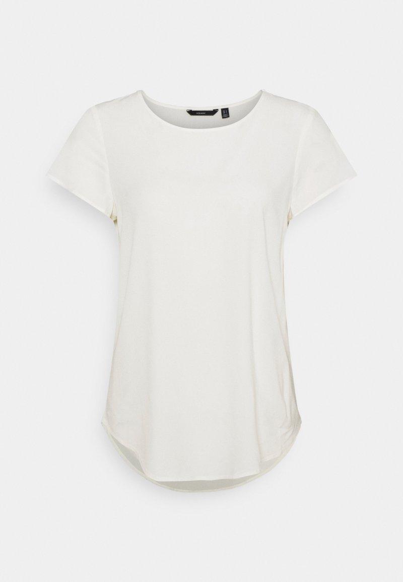 Vero Moda - VMBECCA PLAIN - Basic T-shirt - snow white