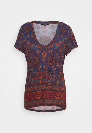 BENIN - Print T-shirt - navy
