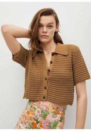 MIT LOCHMUSTER - Button-down blouse - braun