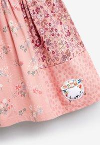 Next - CAT PATCHWORK - Day dress - pink - 2