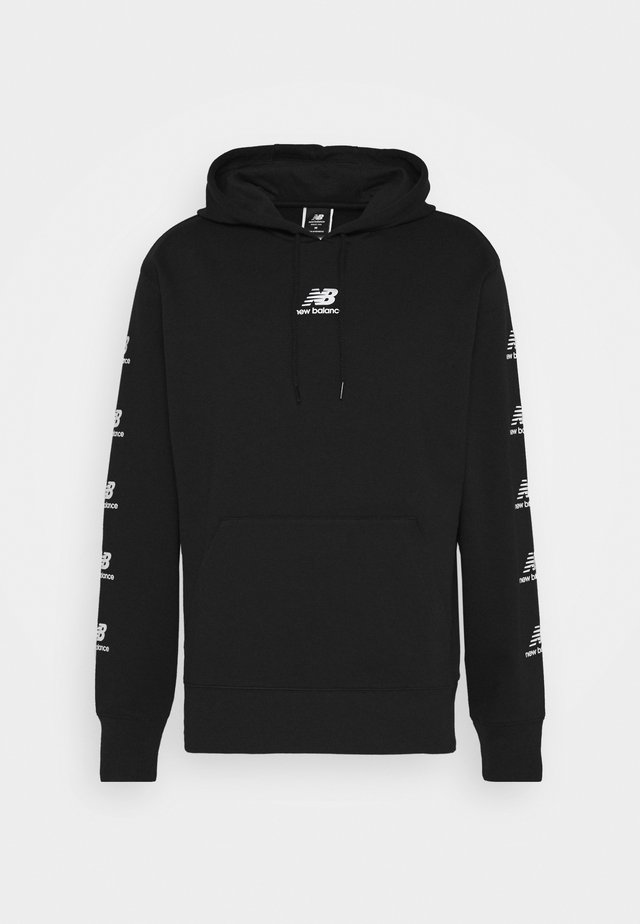 ESSENTIALS STACK PACK HOODIE - Jersey con capucha - black