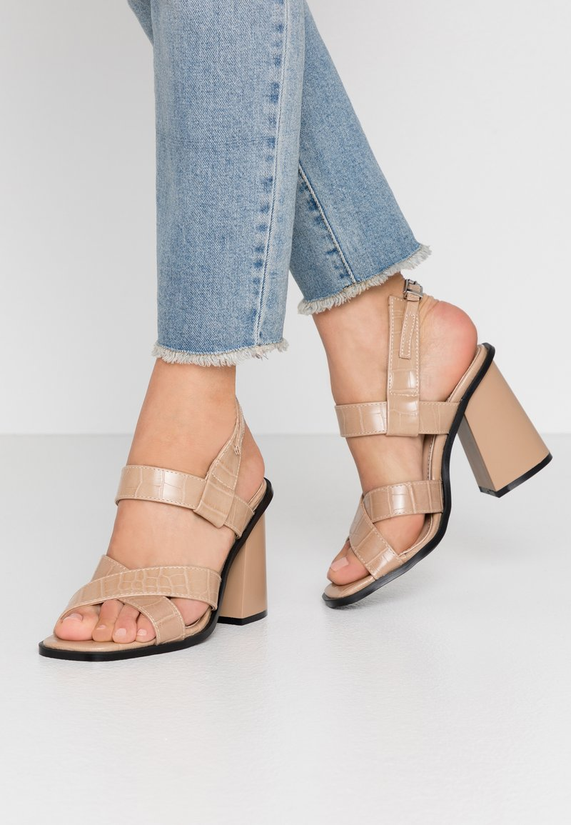 Anna Field LEATHER WEDGES - Sandali con zeppa - nude/color