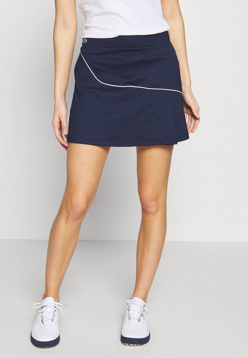 Lacoste Sport - CLASSIC SKIRT - Rokken - navy blue/white