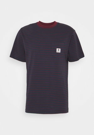 BASIC STRIPES - Print T-shirt - eclipse navy