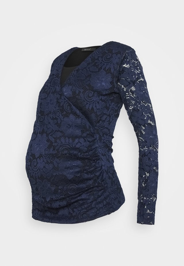 PIAS - Long sleeved top - dark blue