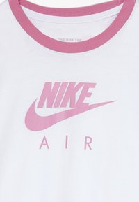 Nike Sportswear - TEE AIR LOGO RINGER - Camiseta estampada - white/magic flamingo - 3