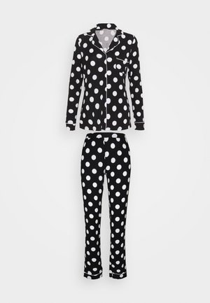 JERSEY AMANDA  - Pyjama set - black/white
