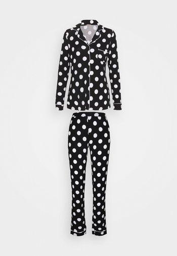 JERSEY AMANDA  - Pyjama set - black/white
