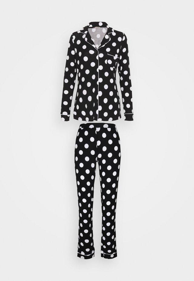 JERSEY AMANDA  - Pyjamas - black/white