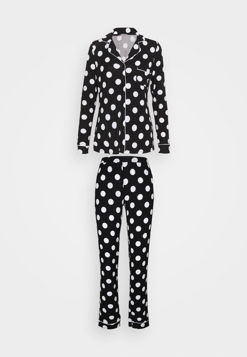Anna Field - JERSEY AMANDA  - Pyjama - black/white