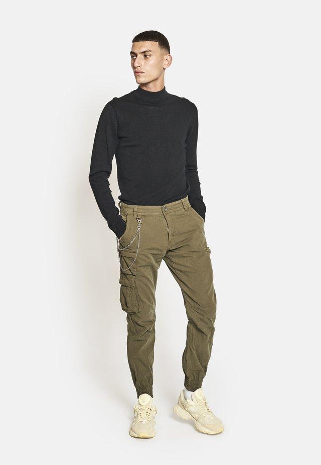 Pantalones cargo - dark olive