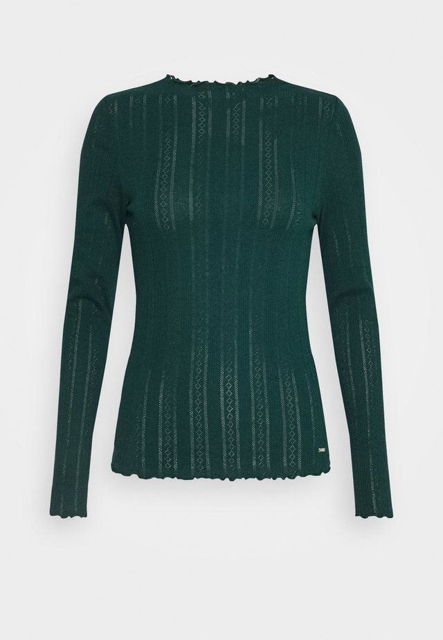 POINTELLE TEE - Long sleeved top - deep green lake