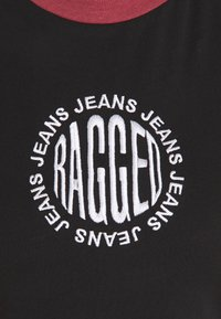 The Ragged Priest - SHORT SLEEVE RAGLAN RINGLER - Print T-shirt - black/burgandy