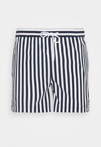 KnowledgeCotton Apparel - BAY STRETCH STRIPED SWIMSHORTS - Swimming shorts - total eclipse - 0