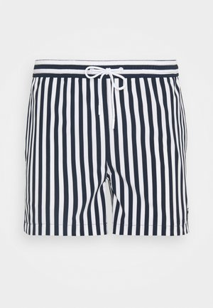 BAY STRETCH STRIPED SWIMSHORTS - Swimming shorts - total eclipse