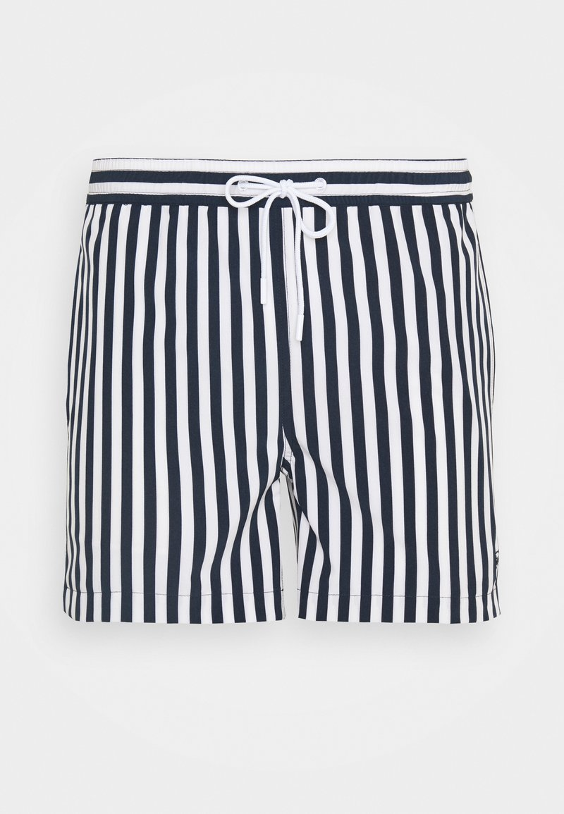KnowledgeCotton Apparel - BAY STRETCH STRIPED SWIMSHORTS - Swimming shorts - total eclipse