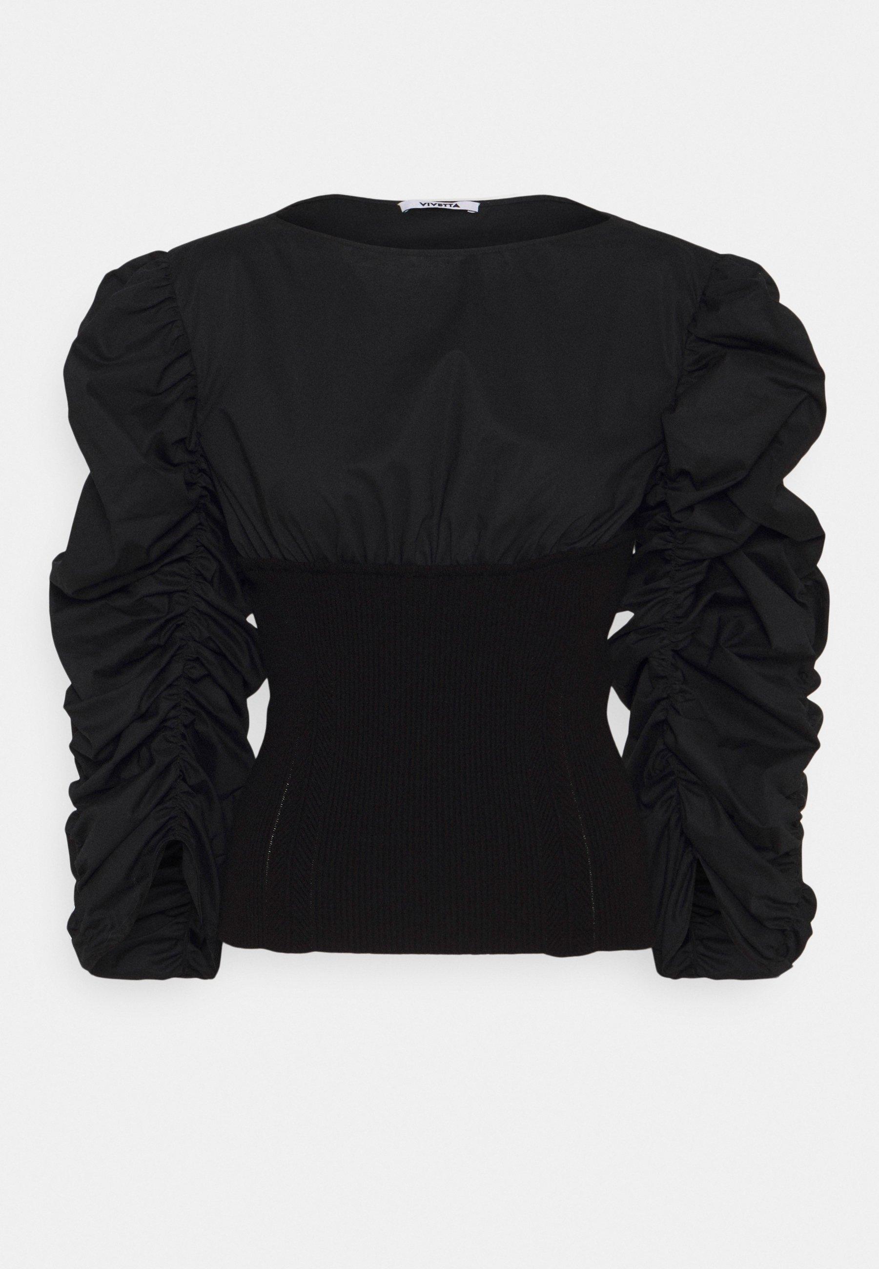 Women RUFFLE BLOUSE - Long sleeved top
