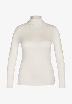MIT UNIFARBENEM UND LANGEN ÄRMELN - Long sleeved top - beige