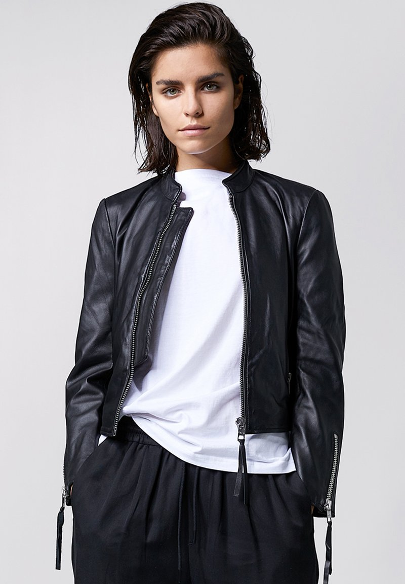 Tigha - Leather jacket - black