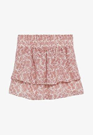 VOLANTS - A-line skirt - blanc cassé