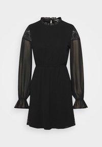 INSERT FRILL NECK DRESS - Day dress - black