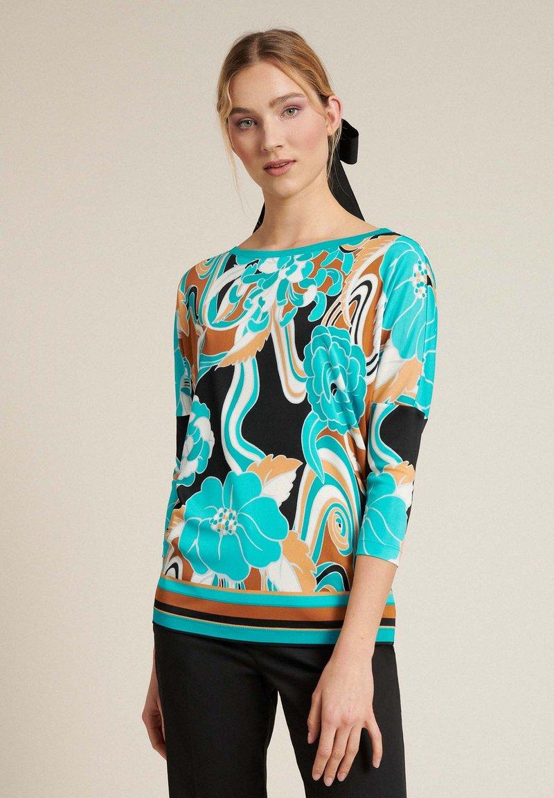 Luisa Spagnoli - BROS - Long sleeved top - var turchese/geometrico