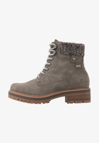 TOM TAILOR - Lace-up ankle boots - mud - 1