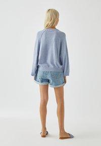 PULL&BEAR - Long sleeved top - mottled blue - 2
