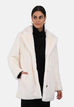 Faux leather jacket - ivory