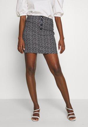 PRINT MINI - A-line skirt - black