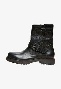 Selected Femme - Cowboy/biker ankle boot - black - 1