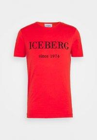 Iceberg - Print T-shirt - rosso fuoco - 3