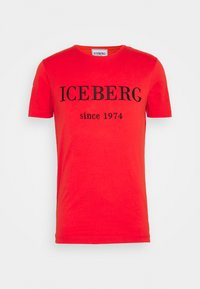 Print T-shirt - rosso fuoco