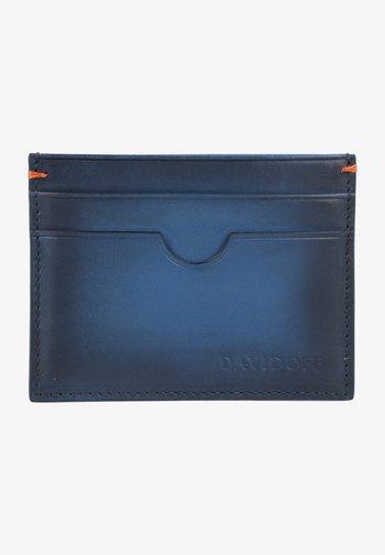 Business card holder - blue