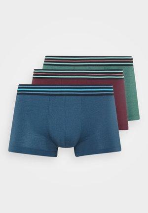 3 PACK  - Pants - dark blue/green/dark red