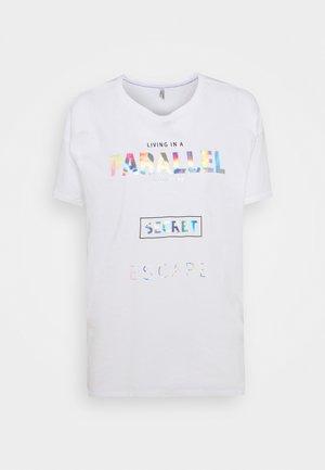 ONLFIONA LIFE OVERSIZE - Print T-shirt - bright white/parallel