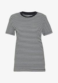 SLFMY PERFECT TEE BOX CUT - Print T-shirt - black/snow white