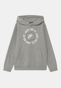 Nike Sportswear - HOODIE - Hoodie - dark grey heather - 0