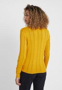 TOM TAILOR DENIM - STRUCTURED MOCK NECK - Jumper - sunflower yellow - 2