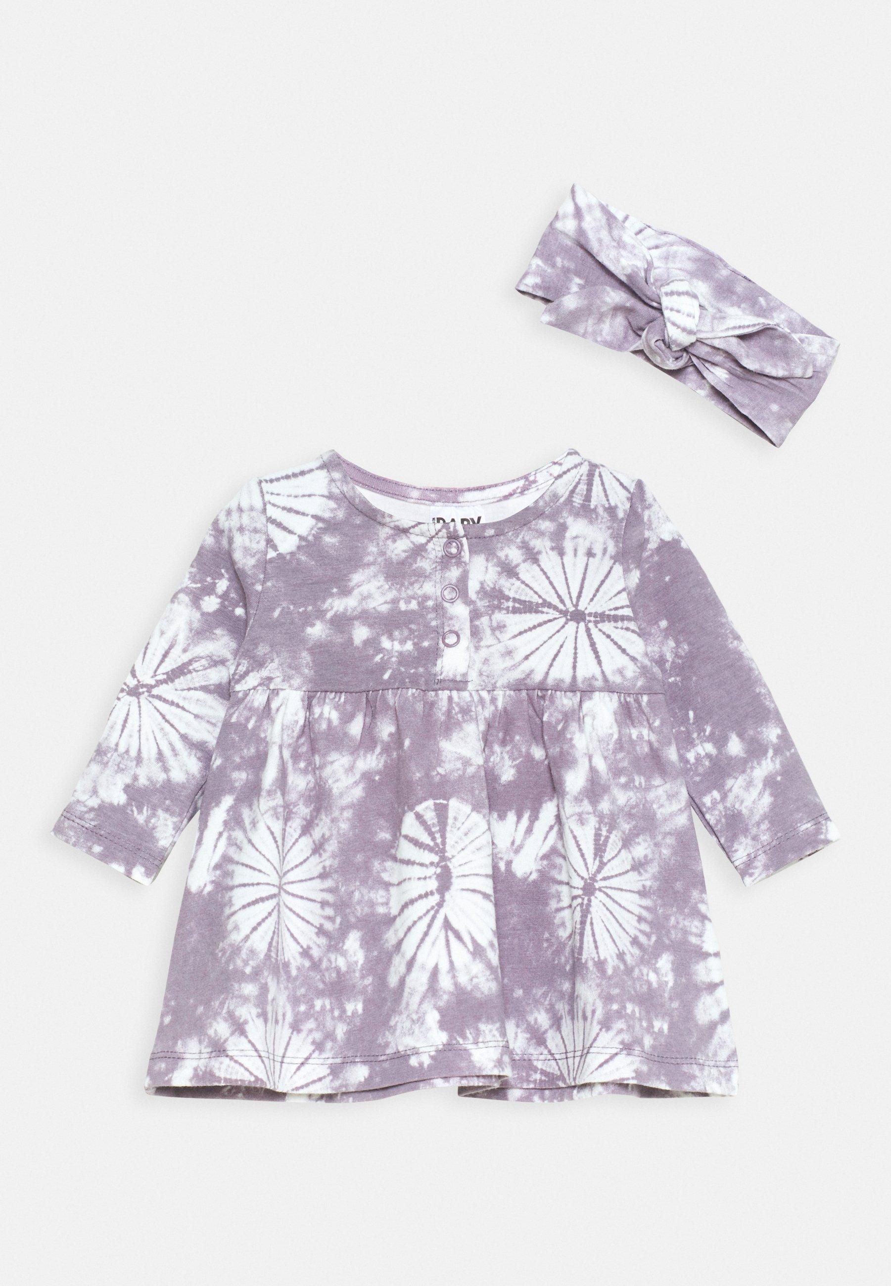 Kids BUNDLE DRESS TIE HEADBAND - Jersey dress - dusk purple