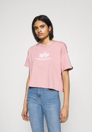 BASIC - Printtipaita - silver pink