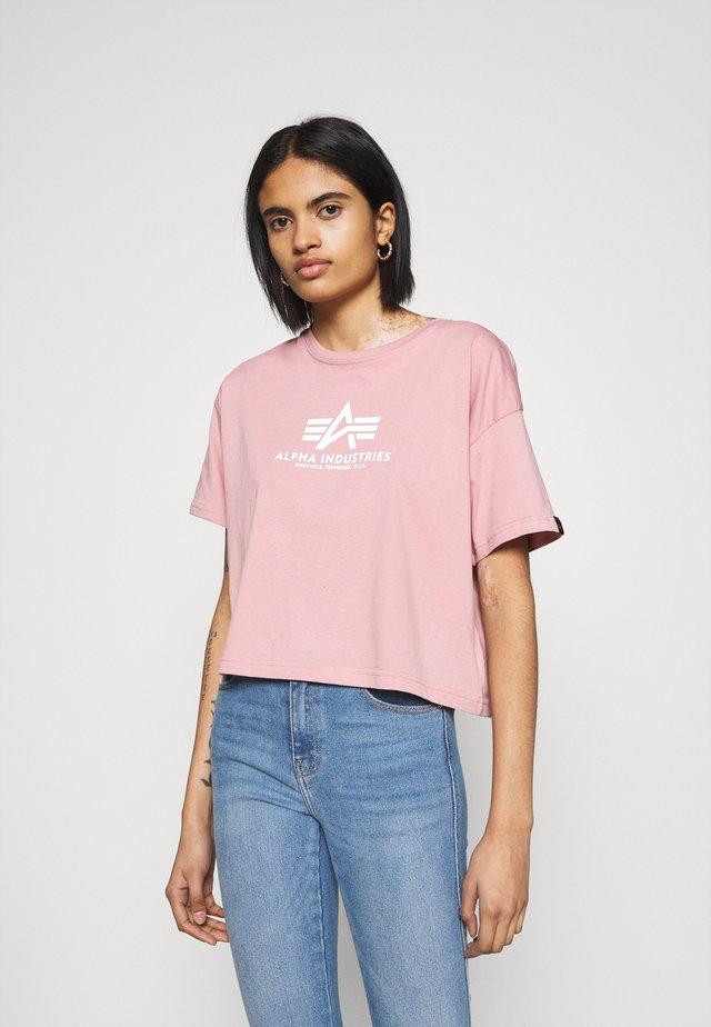 BASIC - T-shirt print - silver pink