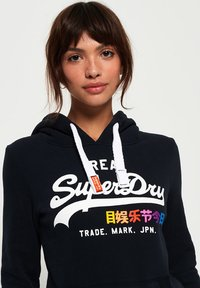 Superdry - VINTAGE LOGO POP ENTRY HOOD - Hoodie - eclipse navy