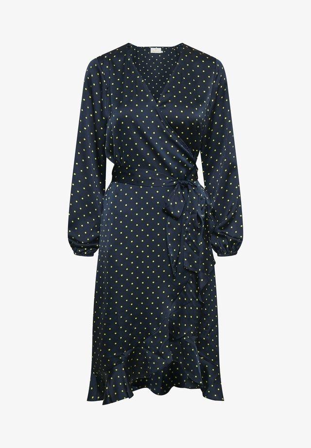 KAHANNY WRAP - Day dress - midnight marine/ dot