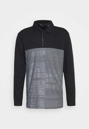 ADICROSS LONG SLEEVE - Poloshirt - black