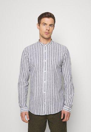 MANDARIN COLLAR SHIRT  - Shirt - navy
