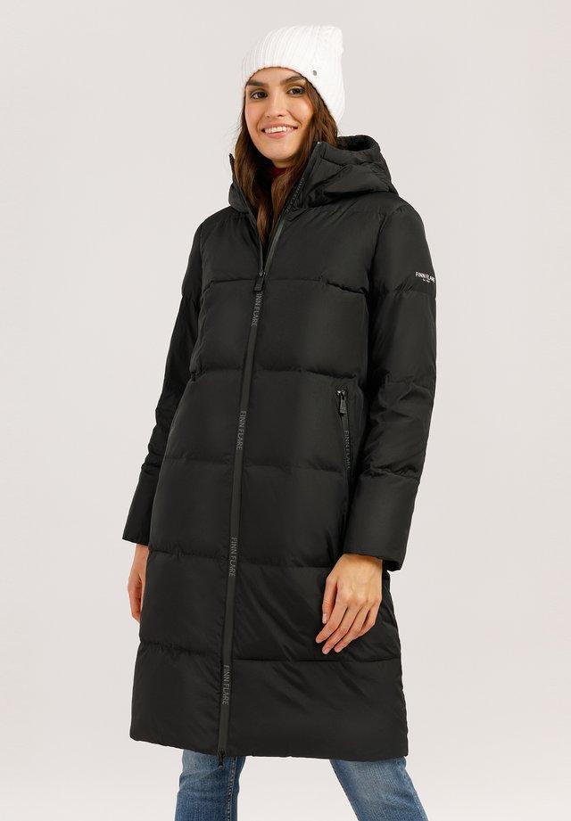 MIT STYLISCHEM RÜCKENPRINT - Winter coat - black